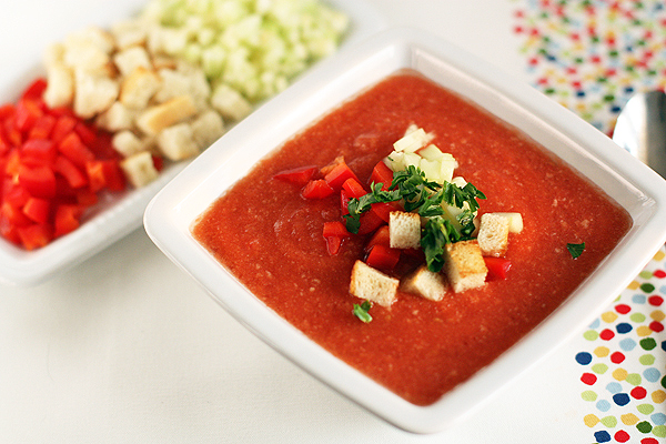 gazpacho the chilled tomato soup of Andalucia