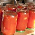 помидоры в томате в литровых банках