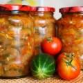 консервированный салат их помидор и огурцов