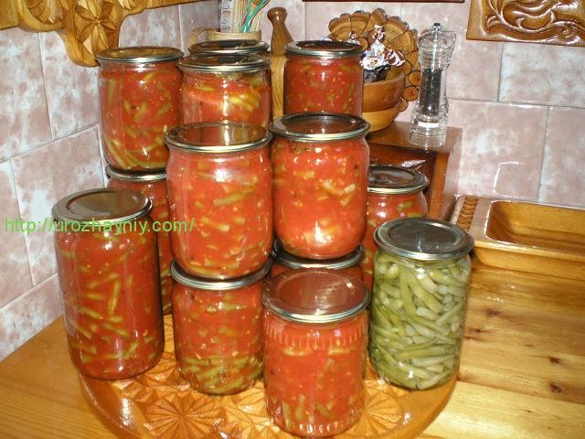 Спаржевая фасоль домашние заготовки