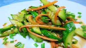 огурци по корейски с морковью