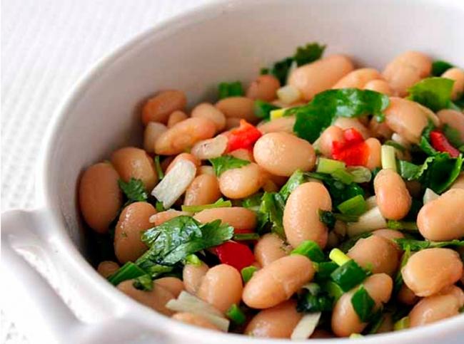 быстрые рецепты салатов из фасоли