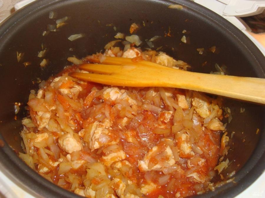 Тушеная капуста в мультиварке с мясом и картошкой рецепт с фото