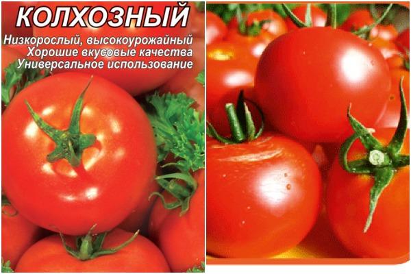 Томат Колхозный: характеристика и описание среднераннего сорта с фото